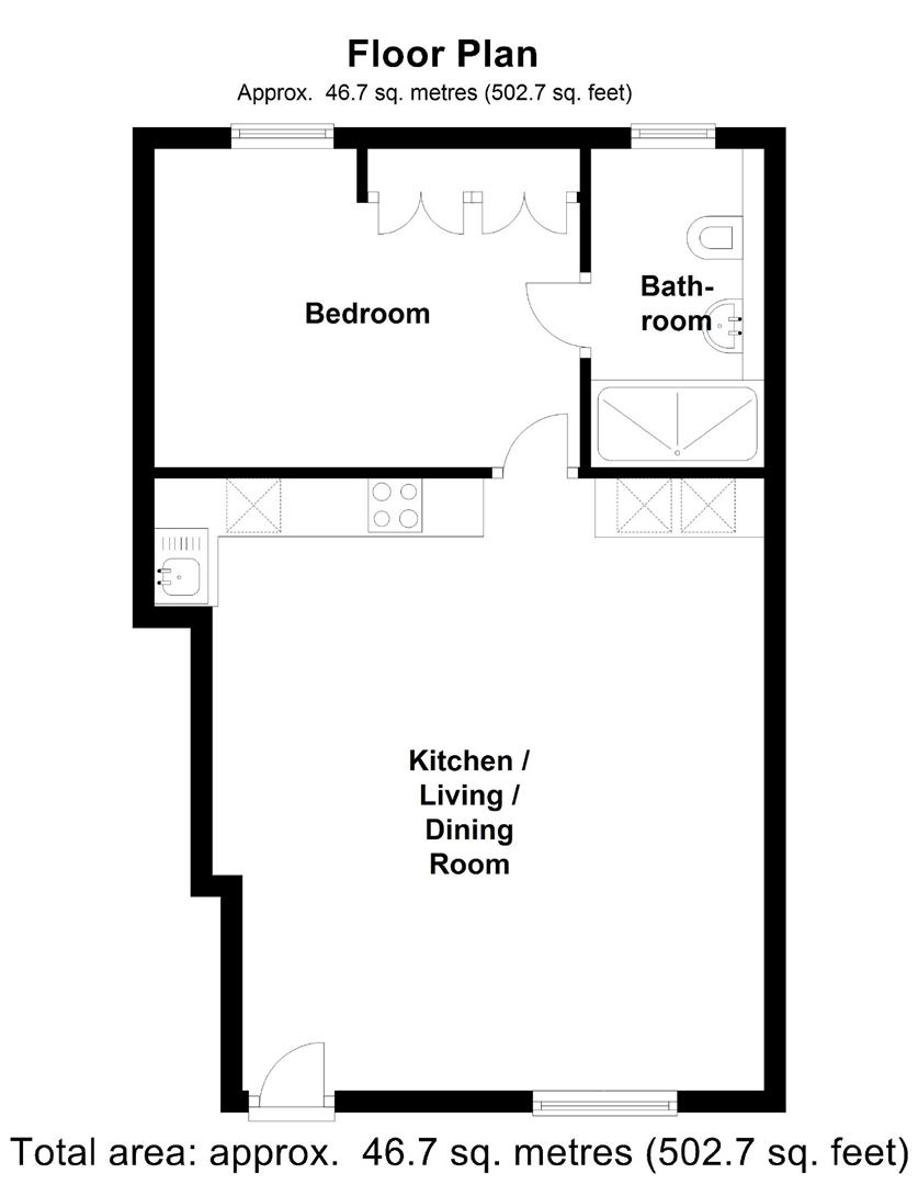 Floor plan The Mews, Cambridge